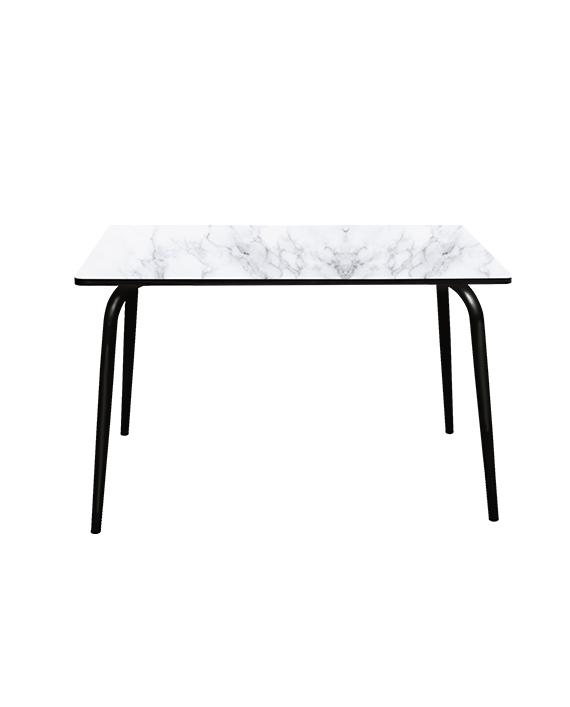 TABLE PLEAT MARBRE PIEDS NOIR