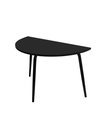 TABLE DEMI LUNE NOIR