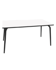 TABLE SALLE A MANGER BLANCHE PIEDS NOIRS
