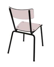 chaise rose poudré