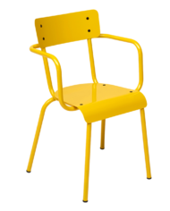 chaise outdoor jaune