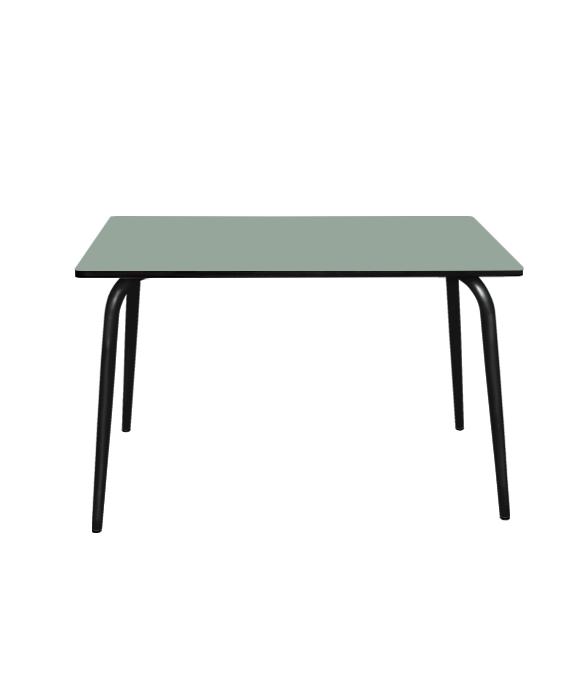 TABLE KAKI PIEDS NOIRS