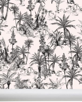 Papier peint palmier