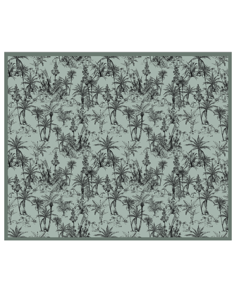 Tapis vinyle : tapis vinyles design mosaïque motif fleurs