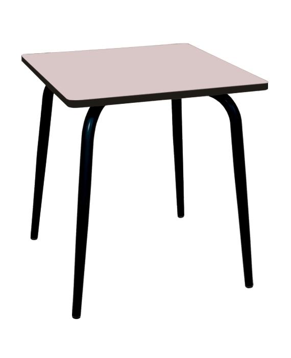 table salle à manger rose poudré