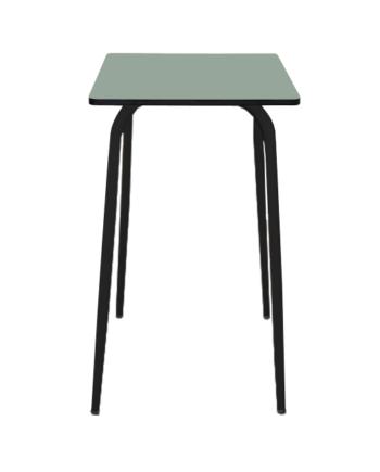 TABLE DE BAR KAKI PIEDS NOIRS