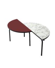TABLE BASSE PALOMA – BORDEAUX DÉCALÉ