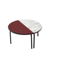 TABLE BASSE PALOMA – BORDEAUX ROND