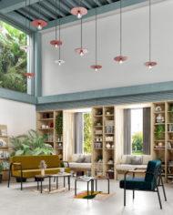 COWORKING- Espace détente – Canapé et fauteuil Barnabé-Ocre:Bleu canard