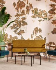HOTEL – espace détente Canapé et fauteuils Barnabé-Ocre:Bleu canard