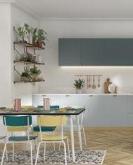 MAISON – CUISINE -Chaises de bar 65CM – TABLE 8 COUVERTS – chaises suzie-Rose poudré:Jaune citron copie